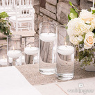 Glass Cylinder Wedding Centrepieces