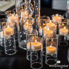 Blown Glass Miniature Tealight Candle Holders / Luminaries (Set of 4)