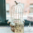 Small Metal Wedding Birdcage With Suspended Tealight Holders