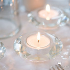 Crystal Tealight Wedding Candle Holders (Set of 6)
