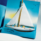 """SMOOTH SAILING"" SAILBOAT MAGNET GIFT FAVOUR (Set of 6)"