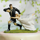 """""A LOVE MATCH"" RUGBY COUPLE FIGURINE CAKE TOPPER"""