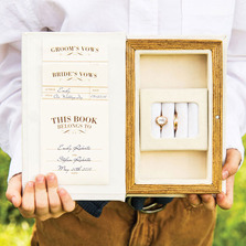 """A Promise Made"" Vintage Inspired Jewellery Book Ring Bearer Box"