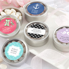"""""Simply Sweet"" Round, Personalised Candy Tin - Wedding Design (set of 12)"""