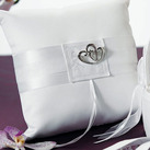 Classic Double Heart Square Ring Bearer Pillow