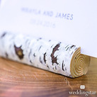 (Set of 6) Faux Birch Log Card or Table Number Holders