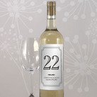 Personalised Classic Table Numbers Wine Label (Set of 12)