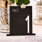 Black Acrylic Table Numbers - No. In Block Style