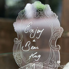 Contemporary Baroque Diecut Acrylic Wedding Sign