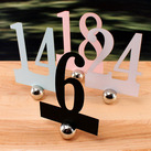 Laser Expressions Classic Paper Table Numbers Set (Set of 12)