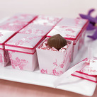 """Asian Pink Brocade Wedding Favour Boxes (Set of 6)"""