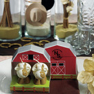 """MINIATURE COW CANDLES IN NOVELTY BARN GIFT BOX """