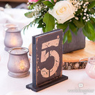(Set of 6) Rustic Self-Standing Table Number And Holders
