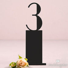 Black Acrylic Table Numbers - Pedestal Style