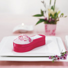 """Asian Pink Brocade Slipper Wedding Favour Boxes (Set of 6)"""