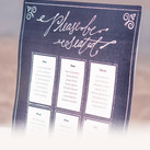 Personalised Seating Chart Kit With Chalkboard Print Design