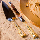 Venice Gold Cake Knife and Cake Serving Set