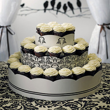 Grand Display Tower For Cupcake - Love Bird Damask