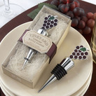 """Kate Aspen ""Vineyard Select"" Enamel and Chrome Bottle Stopper"""