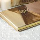 Traditional Bronze Elegance Wedding Guest Book