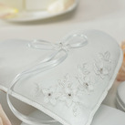 Heart Shaped Floral Fantasy Wedding Ring Bearer Pillow