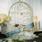 """Modern Decorative Birdcage with Birds in Flight """