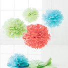 """Martha Stewart Modern Festive Medium Pom Poms Set (Set of 8)"""