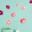 """Martha Stewart Pink Lighted Camelia Garland"""