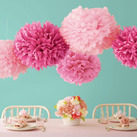 """Martha Stewart Pink Pom Poms Set (Set of 5)"""