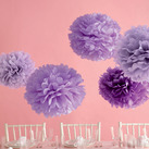 """Martha Stewart Purple Pom Poms Set (Set of 5)"""
