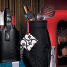 Perfect Groomsmen Wedding Gift 5 Piece BBQ Tools In Black Golf Bag And Golf Grips