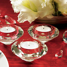 """Crystal Tea light Wedding Candle Holders (Set of 6)"""