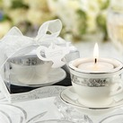 """Teacups and Tealights Miniature Porcelain Tealight Holders"""