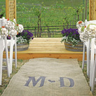 Personalised Burlap Wedding Aisle Runner With Vineyard Monogram