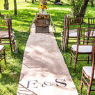 Personalised Burlap Aisle Runner With Equestrian Monogram