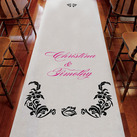 Love Bird Damask Personalised Aisle Runner