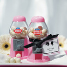 """Pink Mini Classic Gumball Dispenser Wedding Favour """