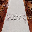 Cherry Blossom Personalised Aisle Runner