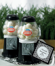 """Black Mini Classic Gumball Dispenser Wedding Favour """