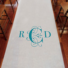 Classic Deco Monogram Personalised Aisle Runner