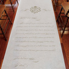 Parisian Love Letter Personalised Wedding Aisle Runner