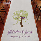 Love Bird Tree Personalised Aisle Runner