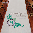 Lavish Monogram Personalised Aisle Runner