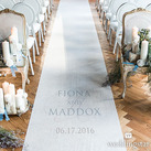 Contemporary Vintage Personalised Aisle Runner
