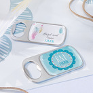 Personalized Silver Bottle Opener with Epoxy Dome - Boho