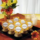 """Golden Lac Box with Beads and Mirror Wedding Favour Box and Place Cardholder (Set of 4)"""