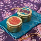 Personalised Gold Round Candy Tins - Indian Jewel (Set of 12)