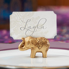 (Set of 6) Lucky Golden Elephant Place Card Holders