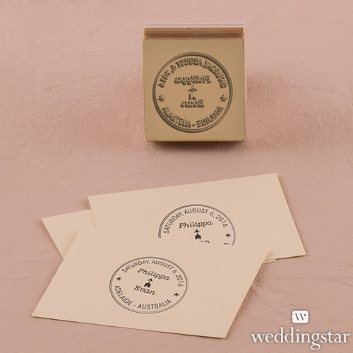 http://www.weddingfavoursaustralia.com.au/products/wanderlust-personalised-rubber-stamps