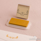 Woodland Pretty Custom Monogram Antler Rubber Stamps